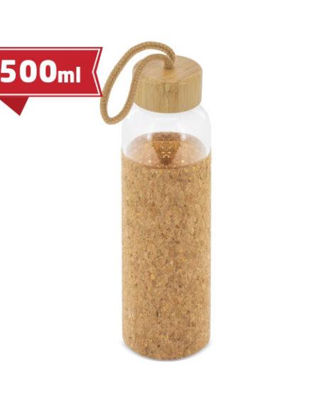 Butelka szklana z korkowym uchwytem
